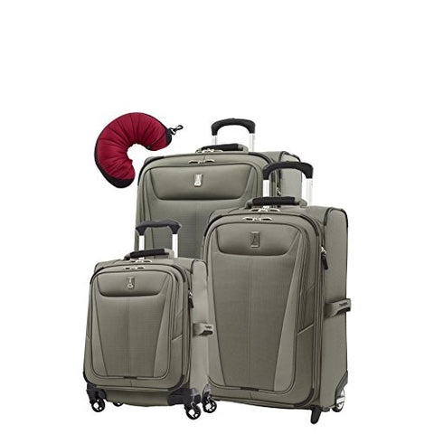 "Travelpro Maxlite 5 | 4-PC Set | Int'l Carry-On, 22"" Carry-On & 26"" Exp. Rollaboard with Travel Pillow (Slate Green)"
