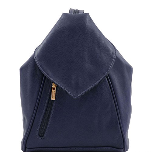 Blue Puppy Pawprints PU Leather and Suede Therapist Bag