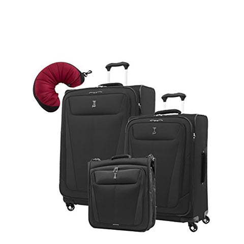 "Travelpro Maxlite 5 | 4-Pc Set | Bifold Hanging Garment, 25"" & 29"" Exp. Spinners With Travel Pillow"