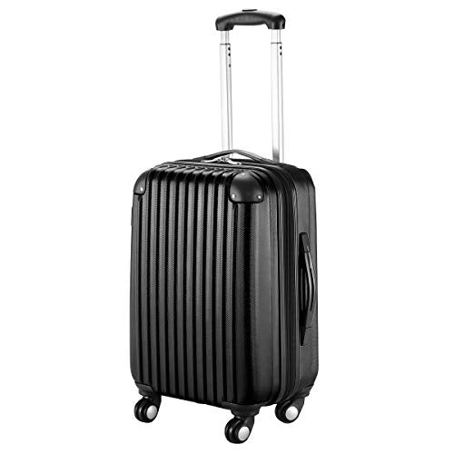 "Goplus 20"" Abs Carry On Luggage Expandable Hardside Travel Bag Trolley Rolling Suitcase Globalway"