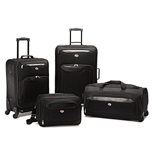 American Tourister Brookfield 4 Piece Set, Black, One Size