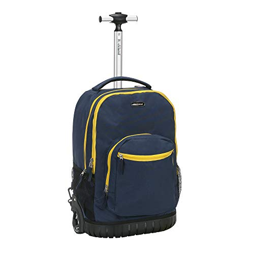 "Rockland 19"" Rolling Backpack, Navy"