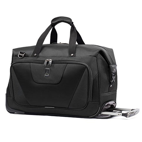 Travelpro Maxlite 4 Carry Rolling Duffel, Black, One Size