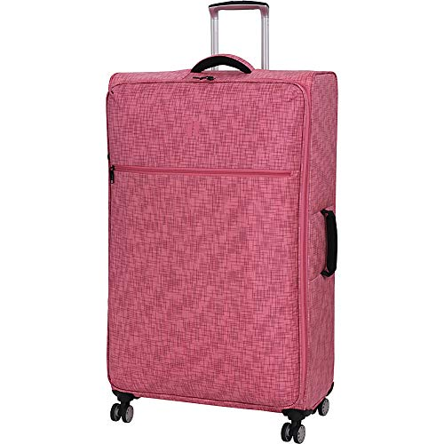 "it luggage 34.4"" Stitched Squares 8 Wheel Lightweight Spinner, Camellia Rose"