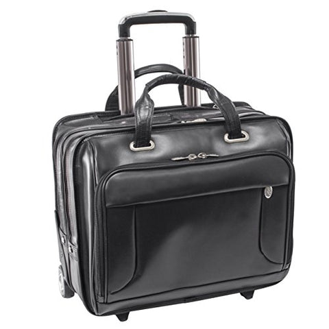Professional Laptop Briefcase, Leather, Mid-Size, Black - Greenwich | McKlein - 87845