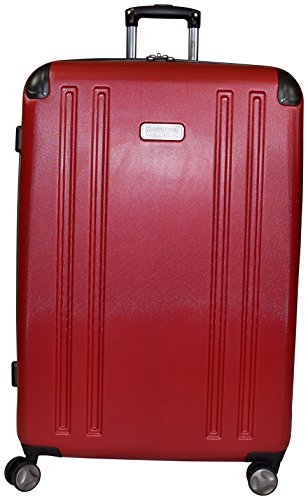 "Kenneth Cole Reaction 8 Wheelin Expandable Luggage Spinner Suitcase 29"" (Red)"