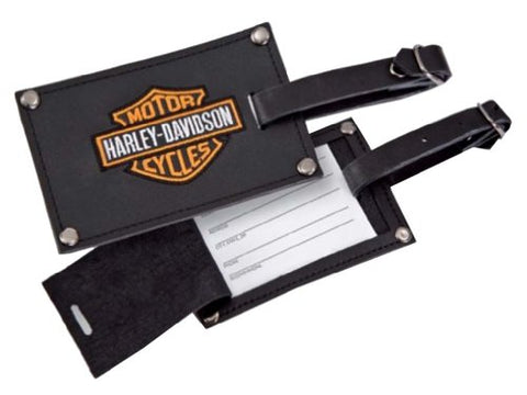 Harley-Davidson Bar & Shield Belted Luggage Tags Leather 99301