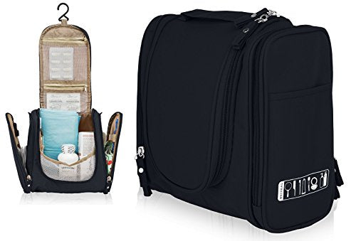 Premium Organization Toiletry Bag (Black)