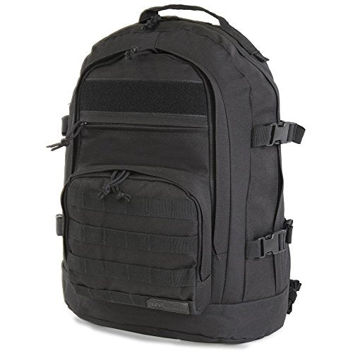 Highland Tactical Basecamp Heavy Duty Tactical Backpack Black