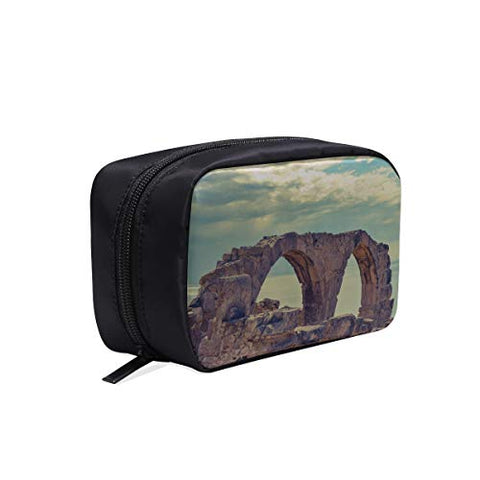 Your Home Makeup Case Bag Cyprus Curio Ruins Antiquity Appropriate Capacity Portable Beauty Girl And Women Cosmetic Bags Storage Bags For Travel