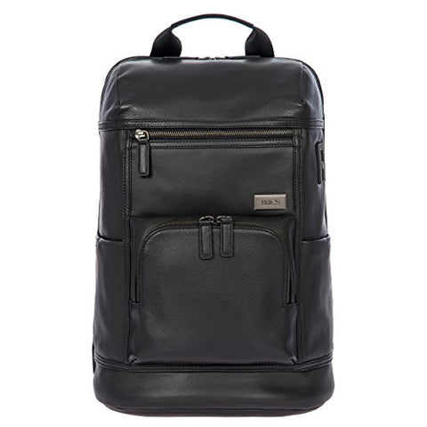 Bric's Torino Leather Urban Laptop|Tablet Business Backpack, Black One Size
