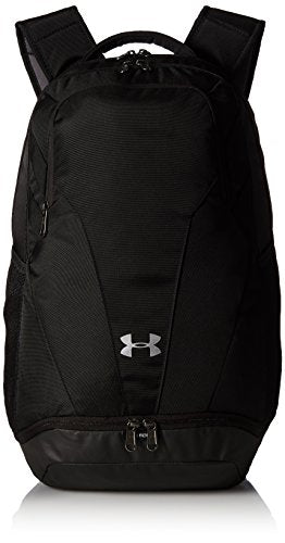 Under Armour Team Hustle 3.0 Backpack, Black//Silver, One Size Fits All