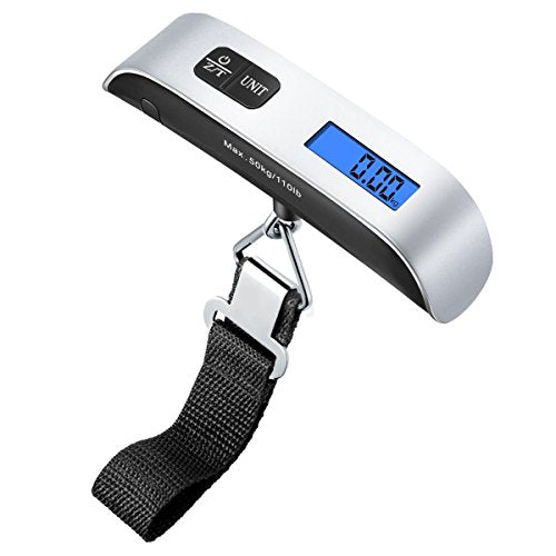 Amir Digital Luggage Scale, 110Lb/50Kg Hanging Portable Travel Electronic Suitcase Scale, Backlight