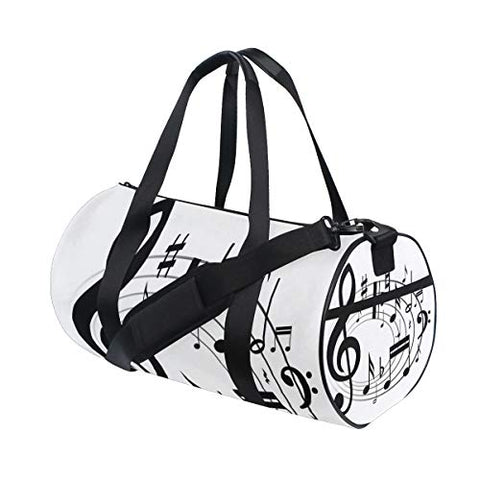 OuLian Gym Bag Music Notes Clipart Women Canvas Duffel Bag Cute Sports Bag for Girls