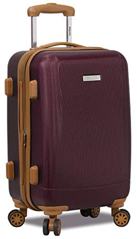 Dejuno Legion Hardside Spinner TSA Combination Lock Carry-on Suitcase-Burgundy