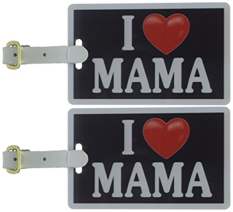 Tag Crazy I Heart Mama Two Pack, Black/White/Red, One Size