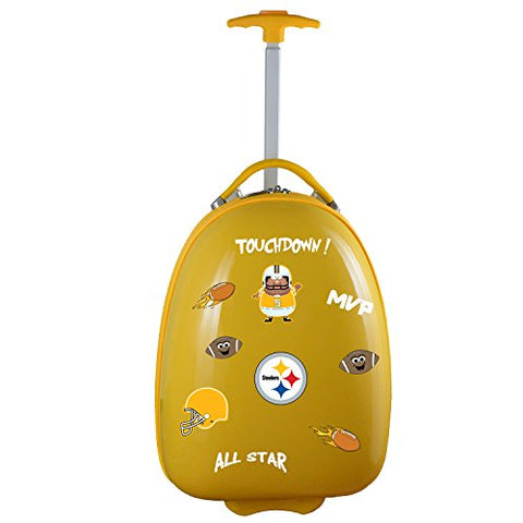 Nfl Pittsburgh Steelers Kids Lil' Adventurer Luggage Pod, Yellow