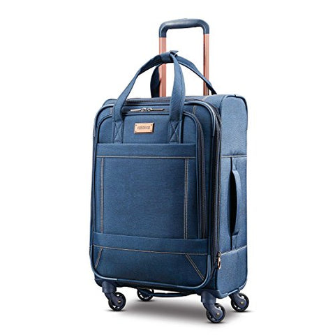 American Tourister Belle Voyage Spinner 21 Carry-On Luggage, Blue Denim