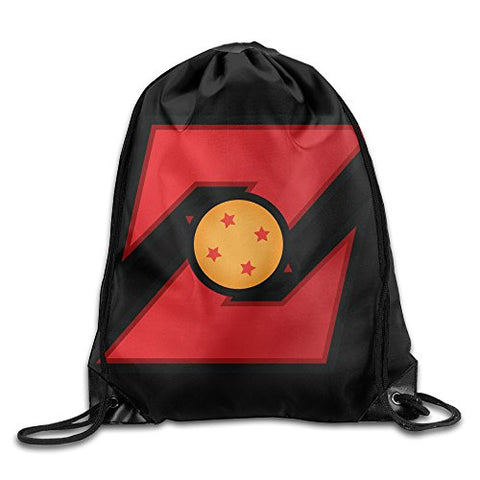 Dragon Ball Z Logo Drawstring Backpack Sackpack Bag