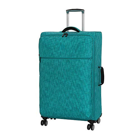 "it luggage 26.8"" Stitched Squares Lightweight Case, Aqua Blue"