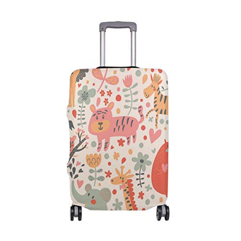 GIOVANIOR Fun Giraffe Cartoon Luggage Cover Suitcase Protector Carry On Covers
