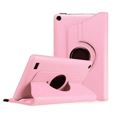 Fire Hd 7 Case,Autumnfall 360 Rotating Case Cover For Amazon Kindle Fire Hd 7 2015 Tablet (Pink)