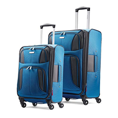 "Samsonite Aspire xLite Expandable Softside Set with Spinner Wheels, 2-Piece (20""/25""), Blue Dream"