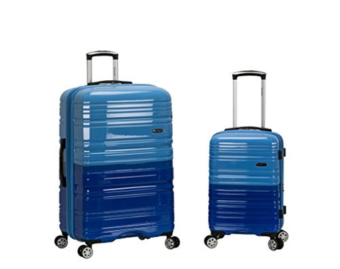 "Rockland 20"", 28"" 2 Pc Expandable Polycarbonate Spinner Set, 2Toneblue"