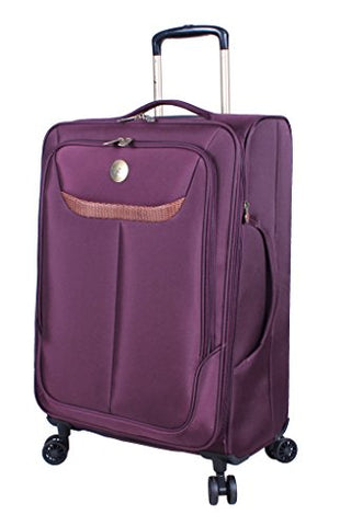 "Caribbean Joe 28"" Large Ultra Lightweight Expandable Luggage With Spinner Wheels"