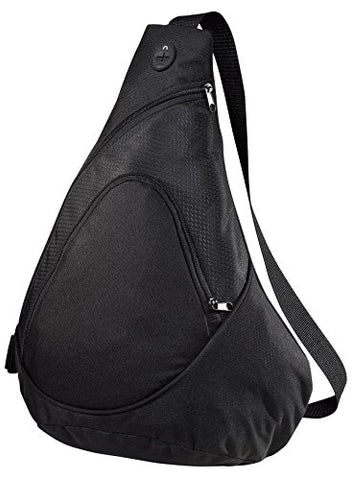 Port & Company Luggage-And-Bags Improved Honeycomb Sling Pack Osfa Black