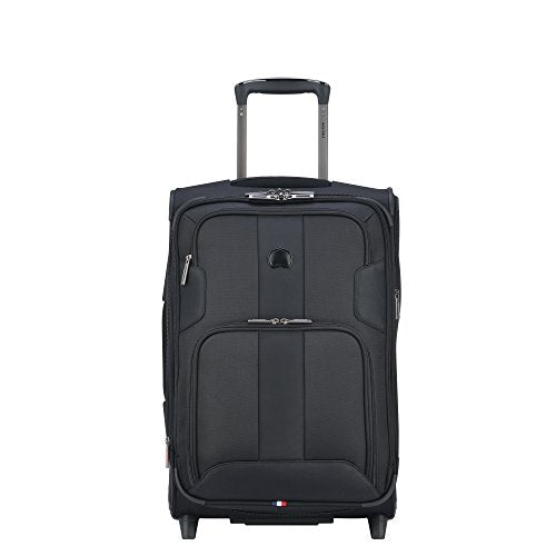 Delsey Luggage Sky Max Expandable 2 Wheeled Carry On, Black