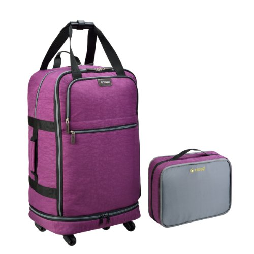 "Biaggi Luggage Zipsak 31"" Micro Fold Spinner Suitcase, Purple"