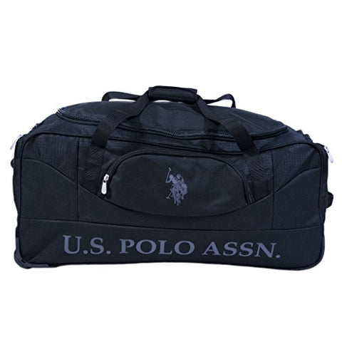 U.S. Polo Assn. 30in Deluxe Rolling Duffle Bag, Black, One Size