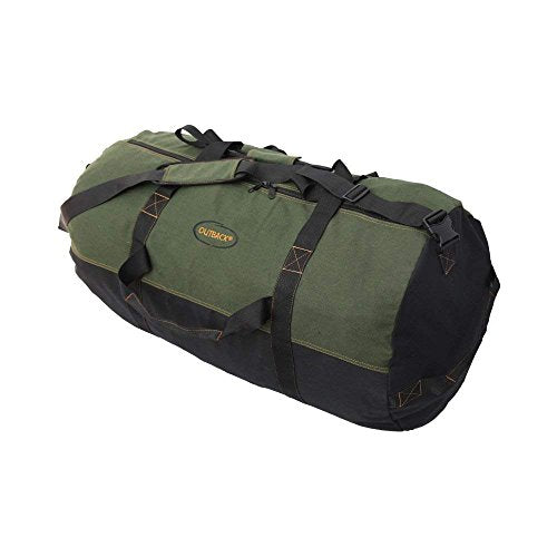 "Ledmark Heavyweight Cotton Canvas Outback Duffle Bag, Green, Giant 48"" x 20"""