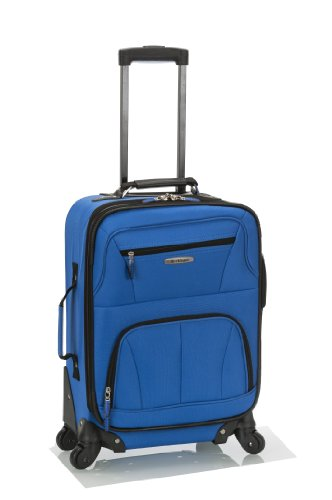 Rockland Luggage 19 Inch Expandable Spinner Carry On, Blue, One Size