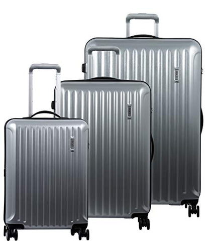 "Bric's Riccione 3-Piece Trolley Set (21""/27""/30"") (Brushed Silver)"