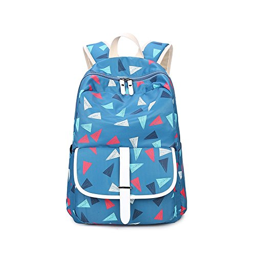 S Kaiko Geometric Pattern Canvas Backpack School Bakcpack For Women And Men School Bag Daypack