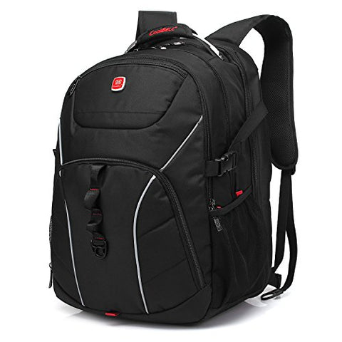 Laptop Backpack , CoolBELL 18.4 Inch Computer Bag With USB Port Water-resistant Rucksack Hiking Knapsack Checkpoint-Friendly Backpack Fits 15 - 18.4 Inch Laptop For Men / women / business (Black)