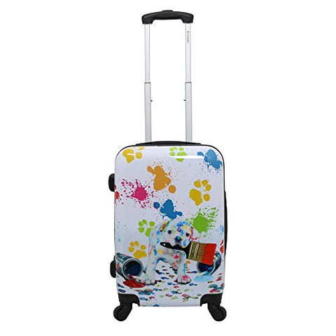 Doggie 20-Inch Hardside Lightweight Expandable Upright Spinner Carry-On Suitcase