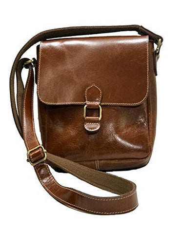 Jack Georges Bridle Collection Flap Messenger Bag