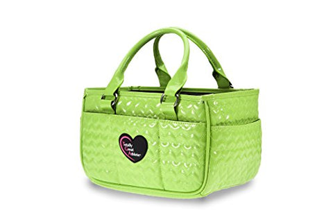Tga Neon Green Heart Ice Skating Bag Tennis Gym And Ballet Girls Athletic Bag