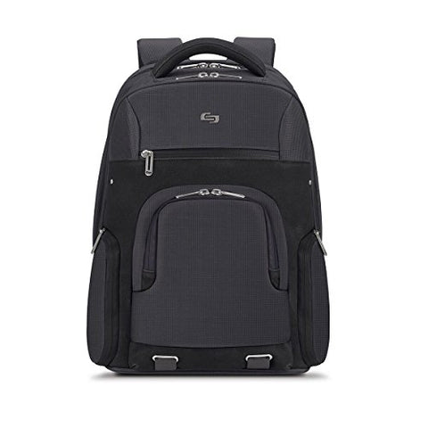"Solo Stealth 15.6"" Laptop Backpack, Gray, One Size"