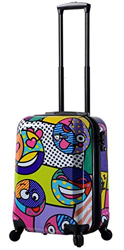 "Mia Toro Italy Emojis Hardside Spinner Luggage 20"" Carry-on, Multi-Color"