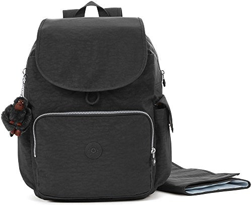 Kipling Women's Zax Solid Diaper Backpack, Black