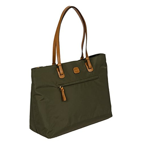 Bric's Women's x-Travel 2.0 Ladies' Business Laptop|Tablet Tote Bag, Olive One Size