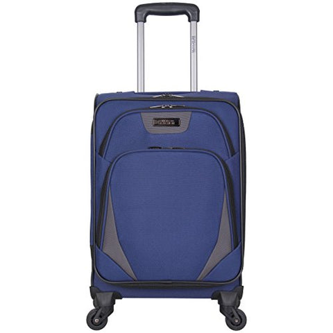 "Kenneth Cole Reaction Going Places 20"" 600d Polyester Expandable 4-Wheel Spinner Carry-on Luggage, Navy"