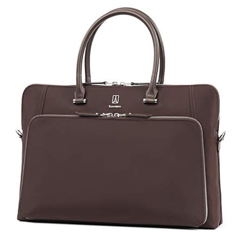 Travelpro Luggage Platinum Elite Women'S Briefcase, Rich Espresso, One Size