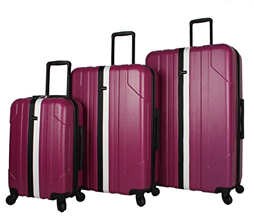 Steve Madden B-Stripe Luggage Sets 3 Piece Hardside Suitcase With Spinner Wheels (B-Stripe
