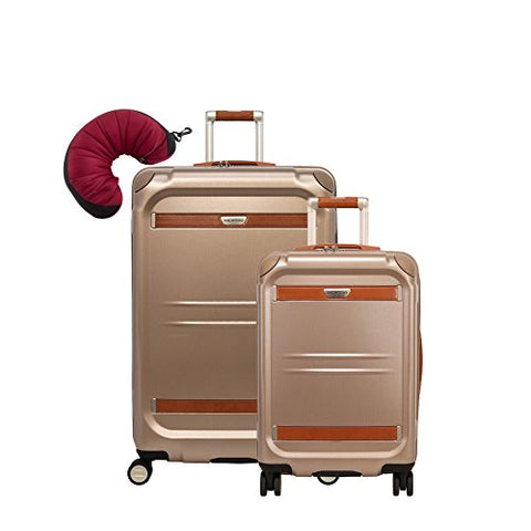 "Ricardo Beverly Hills Ocean Drive | 3-Piece Set | 21"" and 29"" Spinners, Travel Pillow (Sandstone)"