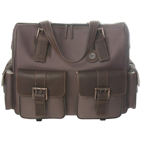 Jack By Jill-E Designs, Rolling Satchel, Brown (049698)